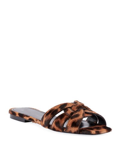 Tribute Flat Leopard-Print Slide Sandals