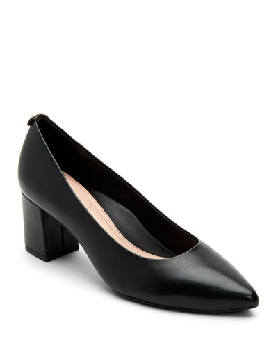 Madline Leather Pointed Pumps