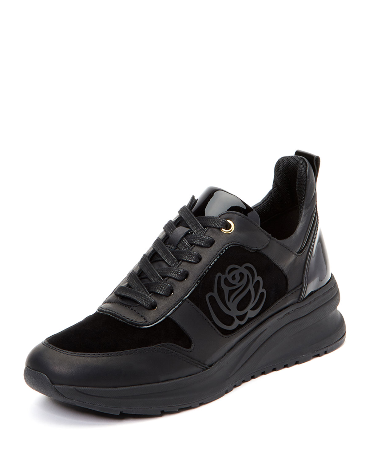 TARYN ROSE ZADIE CHUNKY-SOLE LEATHER TRAINER SNEAKERS