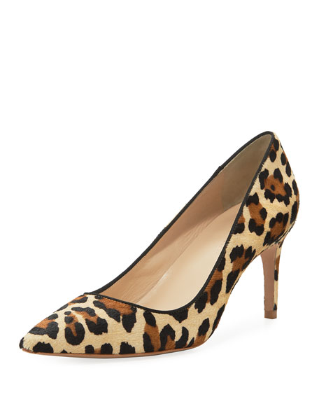 Sophia Webster Rio Leopard Animal-Print Mid-Heel Pumps