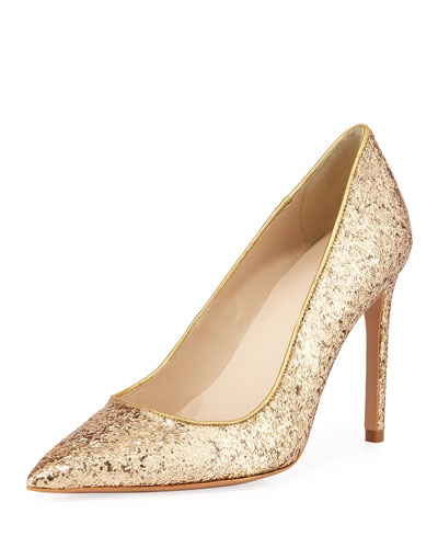 Rio Coarse Glitter High-Heel Pumps