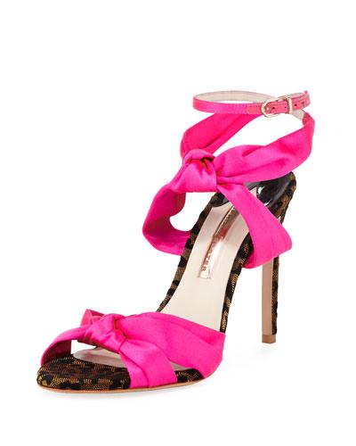 Violette Satin High Sandals