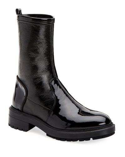 Leoda Weatherproof Patent Ankle Boots