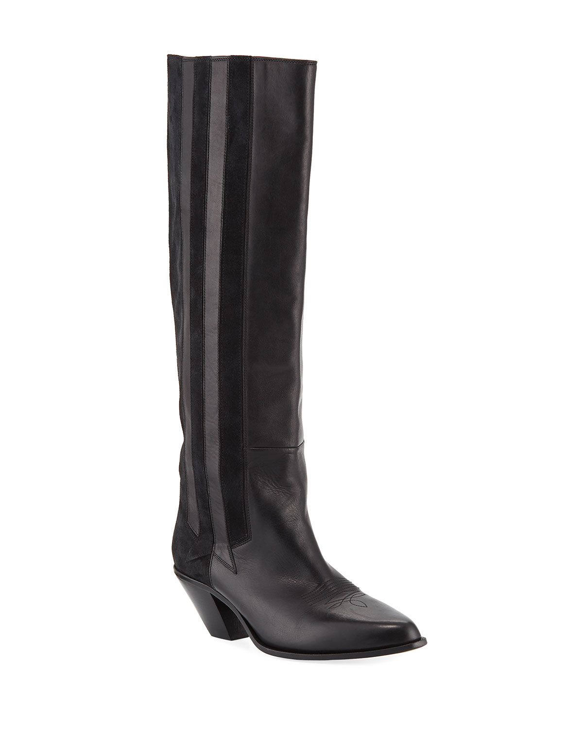 Nebbia Leather/Suede Cowboy Knee Boot