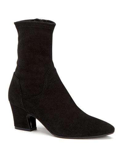 Orida Stretch-Velvet Sock Booties