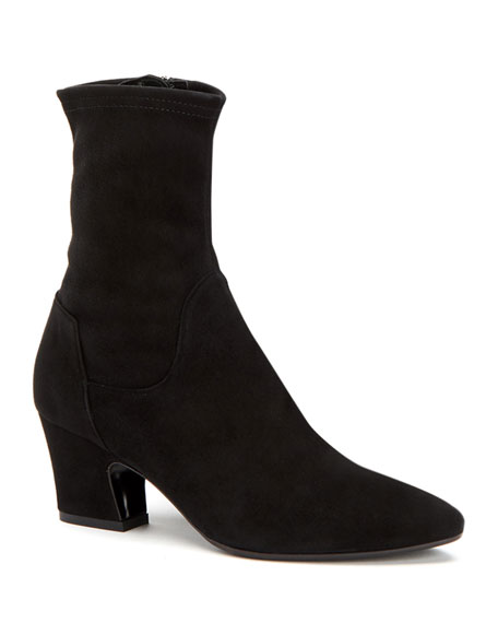 Aquatalia Orida Stretch-Velvet Sock Booties