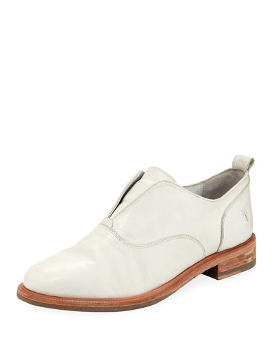 Kelly Open Leather Oxfords, White