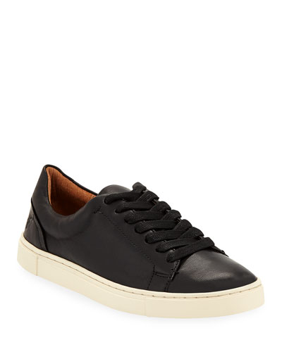 Ivy Soft Leather Lace-Up Low-Top Sneakers