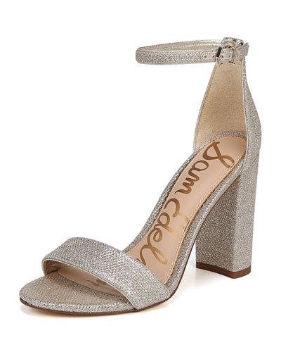 49bd700f0d9 Quick Look. Sam Edelman · Yaro Chunky-Heel Glam Mesh Ankle-Wrap Sandal