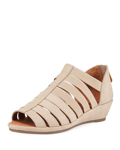 Lana Caged Nubuck Leather Sandals