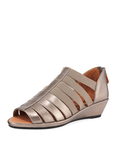 Lana Caged Metallic Leather Sandals