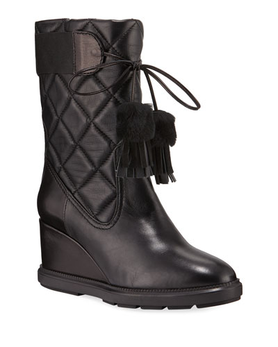 Caliana Quilted Tall Wedge Boots