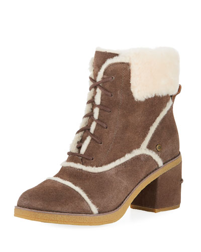 Esterly Lace-Up Shearling Booties