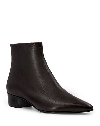 9cd6552c5e10 Quick Look. THE ROW · Ambra Point-Toe Leather Ankle Boots