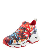 Christian Louboutin Space Run Donna Red Sole Sneakers