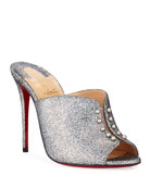 Christian Louboutin Predumule Chunky Glitter Red Sole Mules