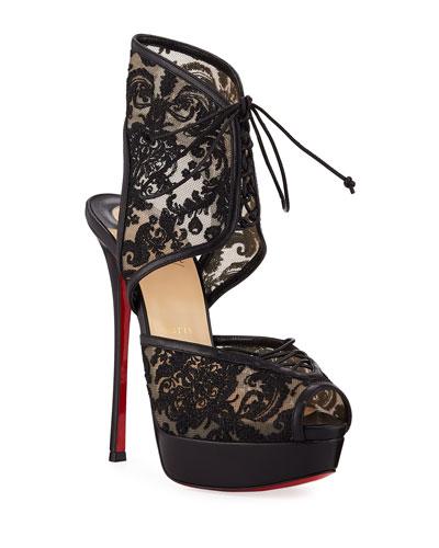 Jose Altafine Lace Red Sole Sandals