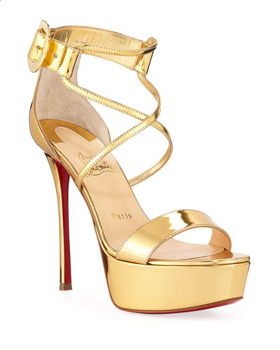 Christian Louboutin Choca Specchio Red Sole Sandals