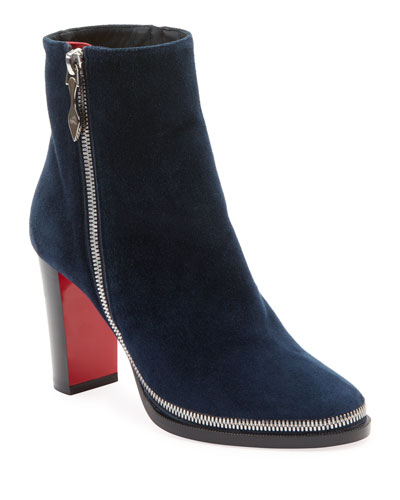 Telezip Suede Red Sole Booties