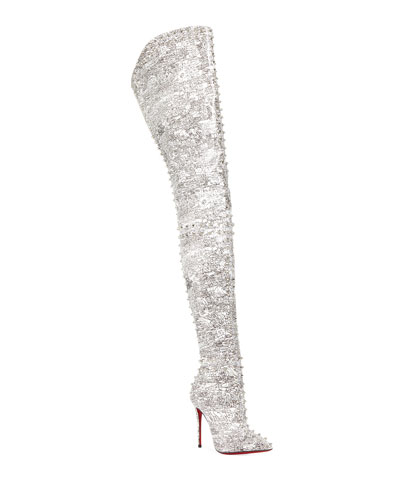 Metrolisse Over-The-Knee Red Sole Boots