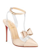 Christian Louboutin Naked Bow Red Sole Pumps