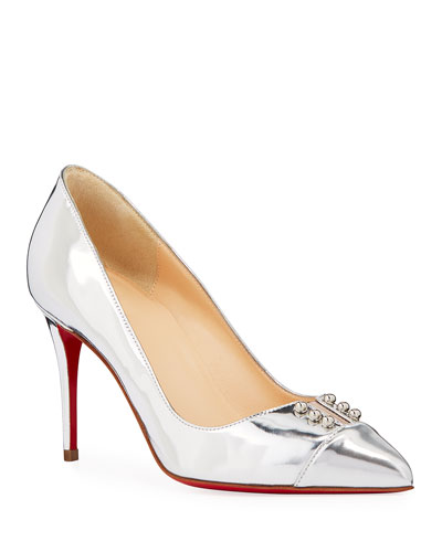 e48f5a4d8ef Quick Look. Christian Louboutin · Predu Metallic Leather Red Sole Pumps