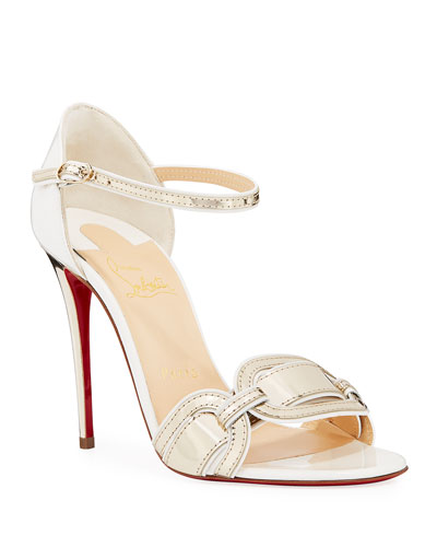 Valparaiso Air-Stripe Patent Red Sole Sandals