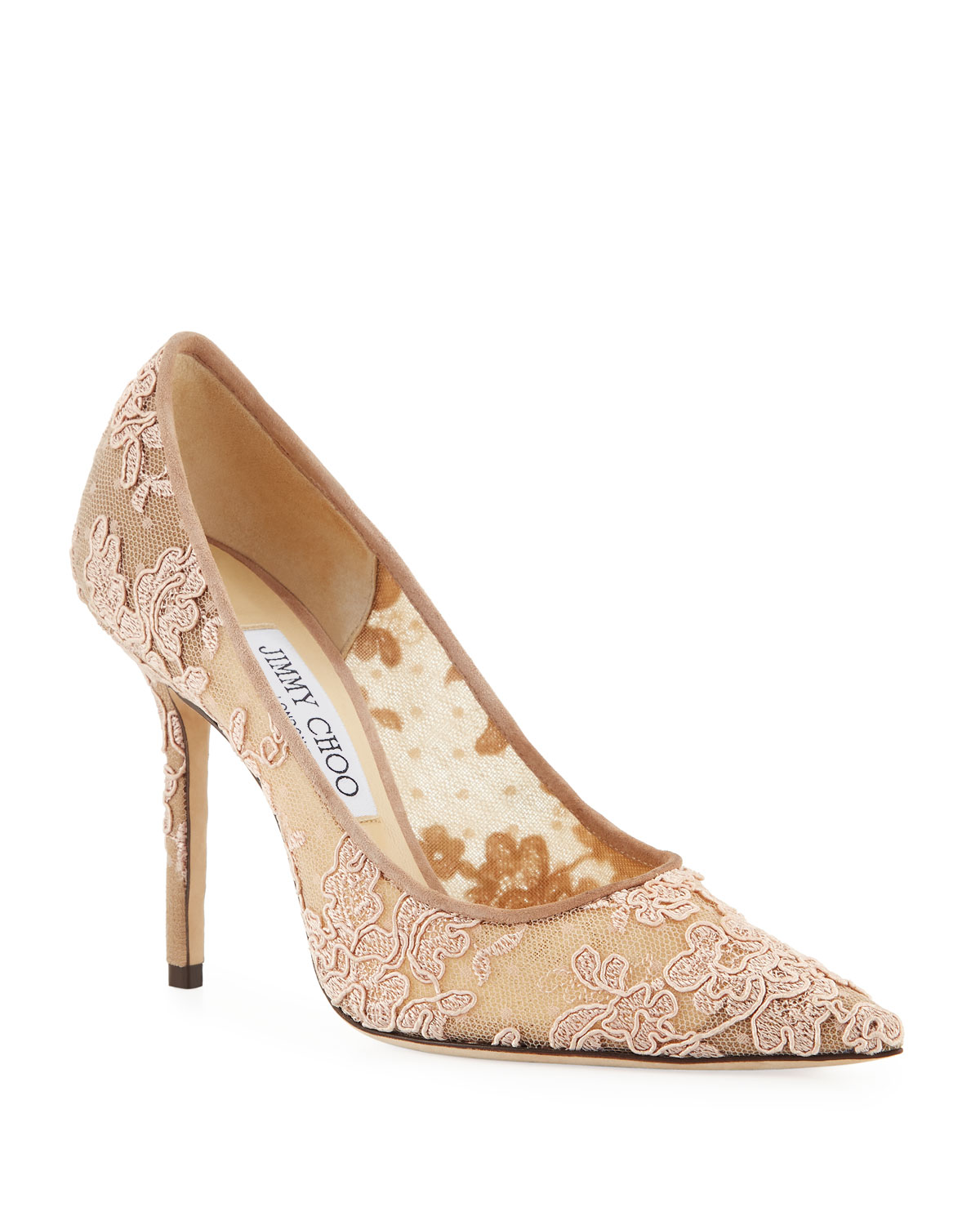 Love Lace Pointed Pumps