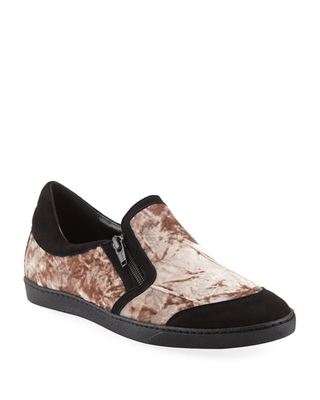Sesto Meucci Frida Novel Crushed Velvet Sneakers