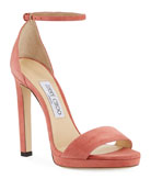 Jimmy Choo Misty Suede Platform Sandals