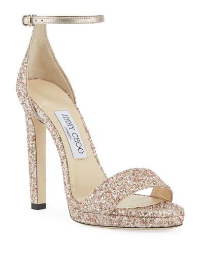 Misty Glitter Platform Sandals