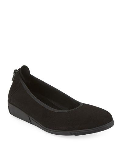 416ca56c80e8 Black Round Toe Ballerina Flat