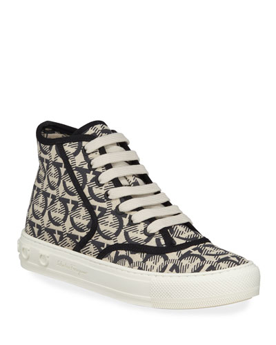 Wimbledon Gancini High-Top Sneakers