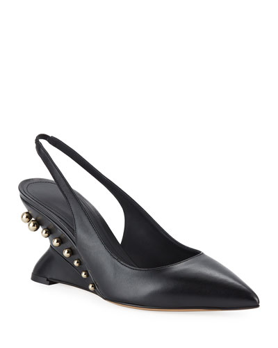 Bienno Studded Wedge Pumps