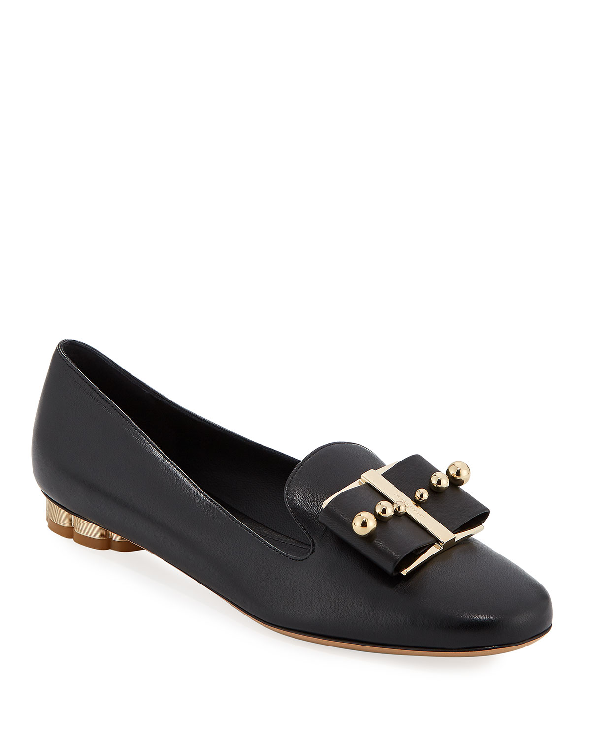 Sarno Studded Bow Loafers