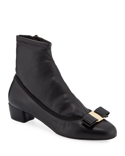 Vara Calf Leather Sock Booties
