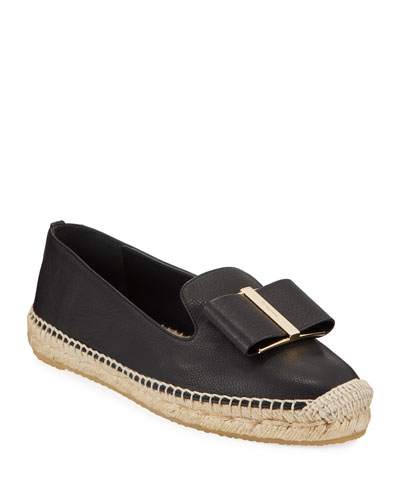 Sannio Leather Bow Espadrilles