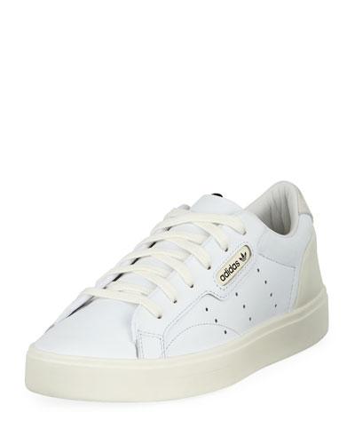 Sleek Leather Low-Top Sneakers