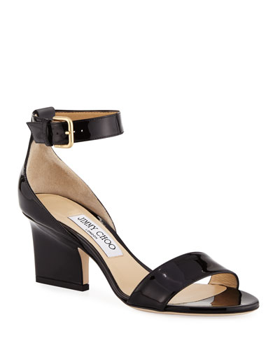 13f082e62a82 Quick Look. Jimmy Choo · Edina Patent Leather Ankle-Wrap Sandals