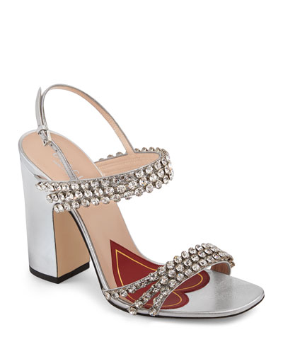 a096b40badb3 Quick Look. Gucci · Bertie Crystal Strappy Sandals