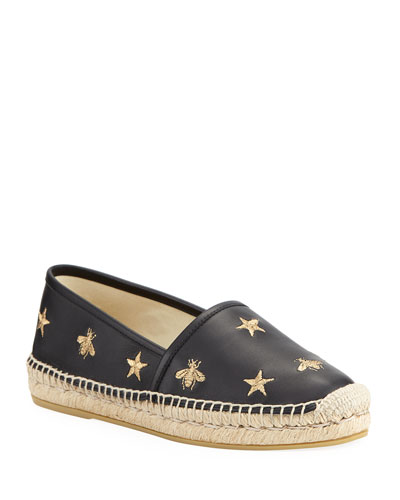 a6f0e91f24 Quick Look. Gucci · Star and Bees Flat Espadrilles