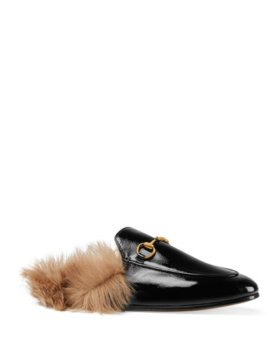 Princetown Patent Leather Mules