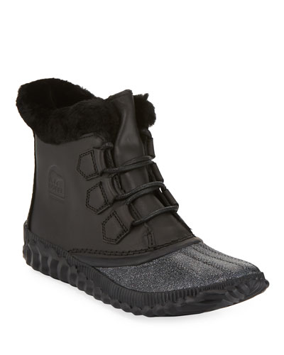 Out-N-About Plus Lux Waterproof Duck Boots with Glitter