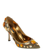 Dolce & Gabbana Jeweled Mesh Pointed Pumps