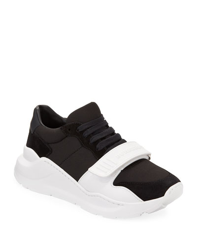 5d19de9d44de Quick Look. Burberry · Regis Neoprene Low-Top Sneakers with Exaggerated Sole.  Available in Black