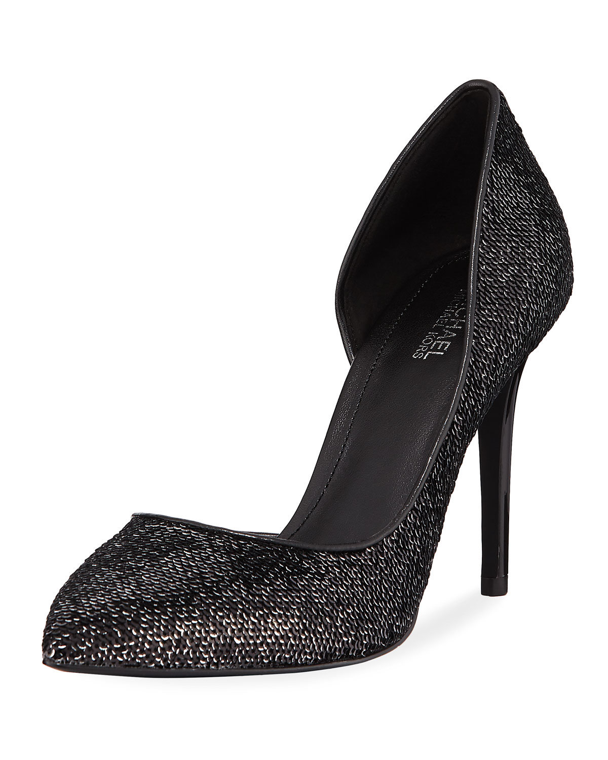 MICHAEL MICHAEL KORS CLAIRE SEQUINED LEATHER D'ORSAY PUMPS
