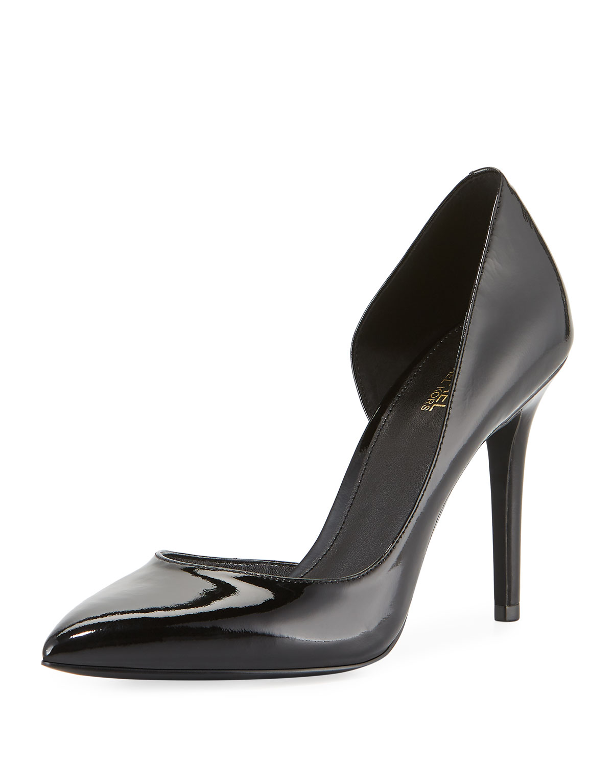 MICHAEL MICHAEL KORS CLAIRE PATENT LEATHER D'ORSAY PUMPS