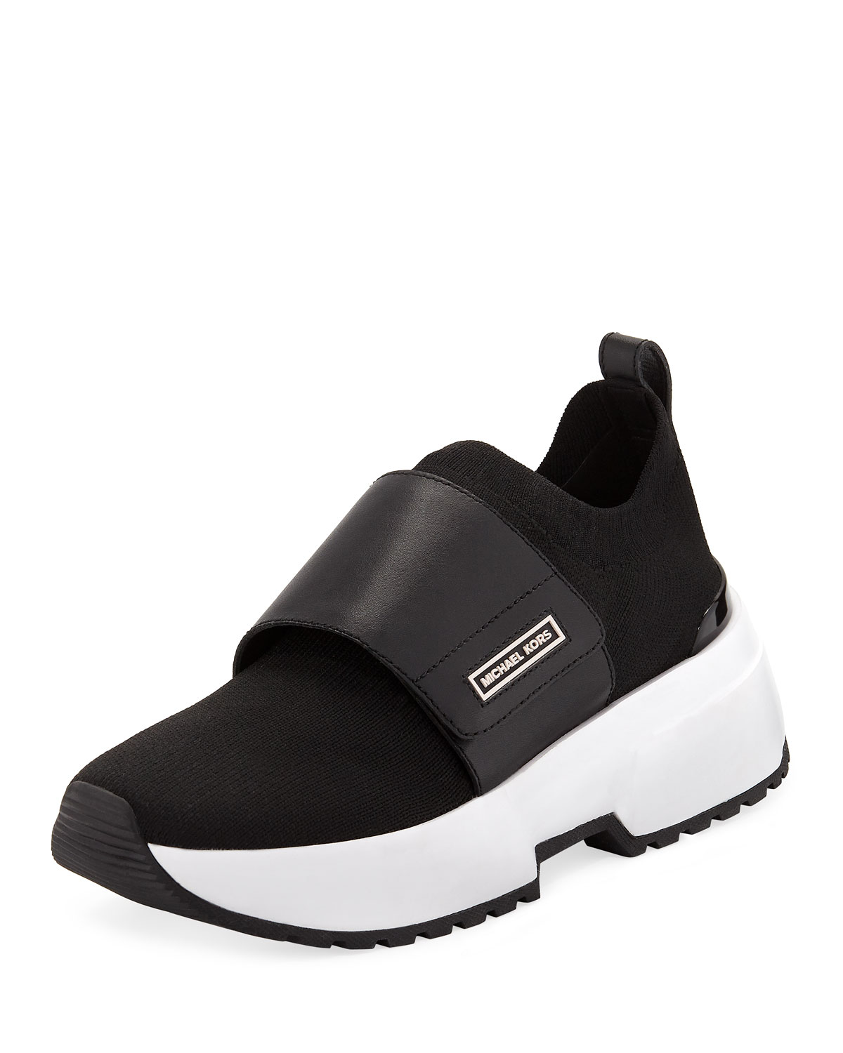 MICHAEL MICHAEL KORS COSMO KNIT SLIP-ON SNEAKERS