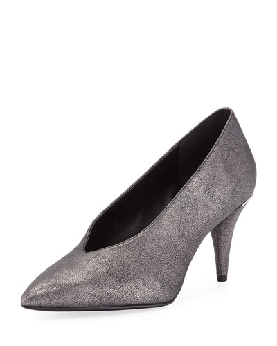 64a90d88195b Quick Look. MICHAEL Michael Kors · Lizzy Mid-Heel Choked-Up Sueded Metallic  Pumps