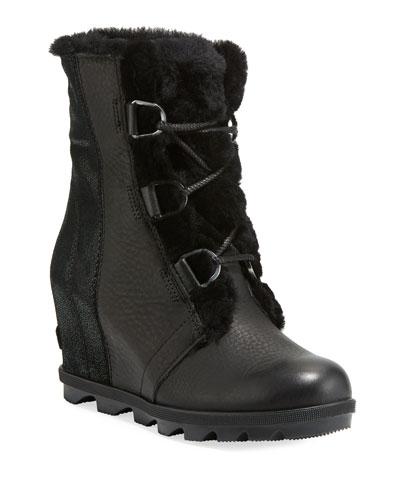 Joan of Arctic II Fur Wedge Boots